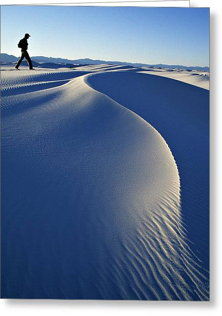 White Sands National Park, New Mexico Greeting Card by Dawn Kish