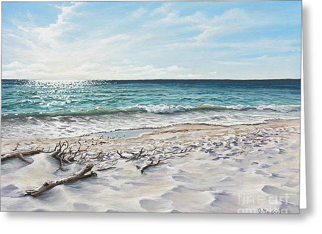 White Sands Of Tiger Tail Greeting Card by Joe Mandrick