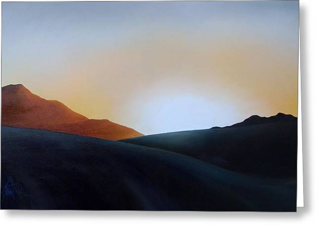 White Sands Sunset Greeting Card by Debbie Anderson