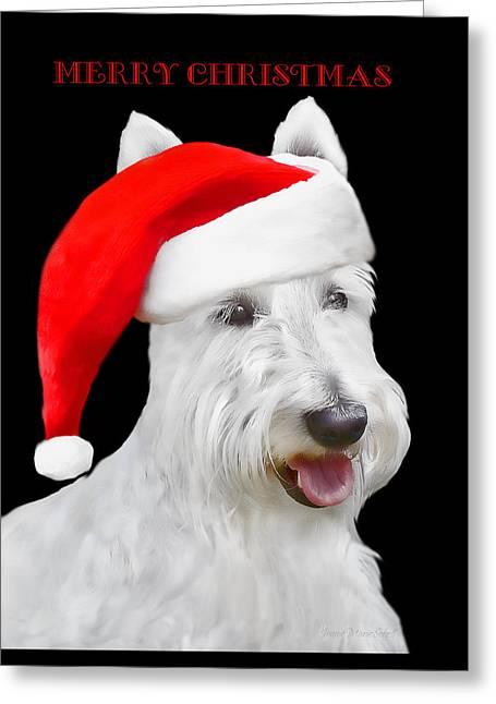 Scottish terrier greeting cards fine art america white scottish terrier dog christmas card greeting card m4hsunfo