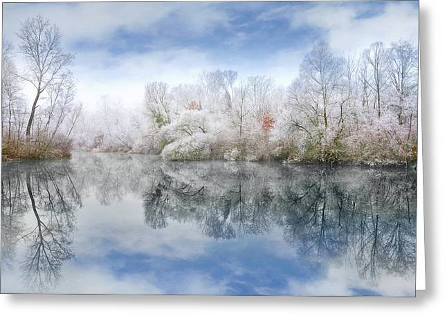 White Space Greeting Card by Philippe Sainte-Laudy