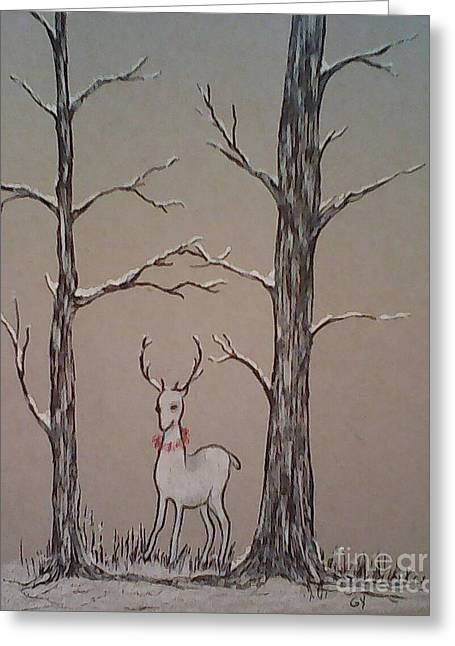 White Stag Greeting Card