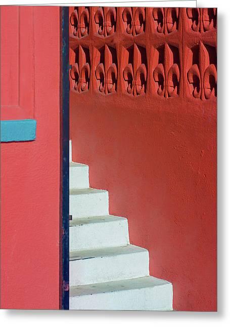 White Staircase Venice Beach California Greeting Card
