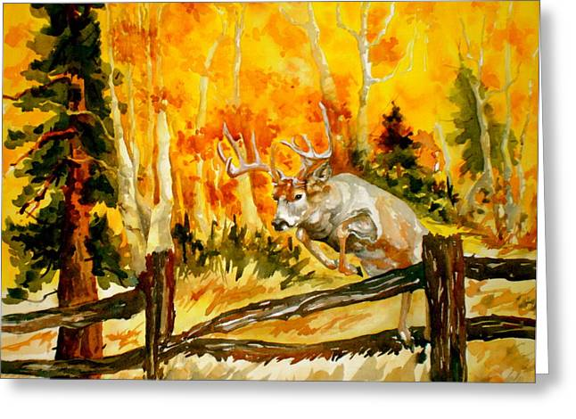 White Tail Deer Greeting Card