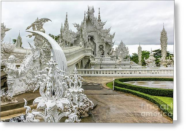 White Temple Thailand Greeting Card
