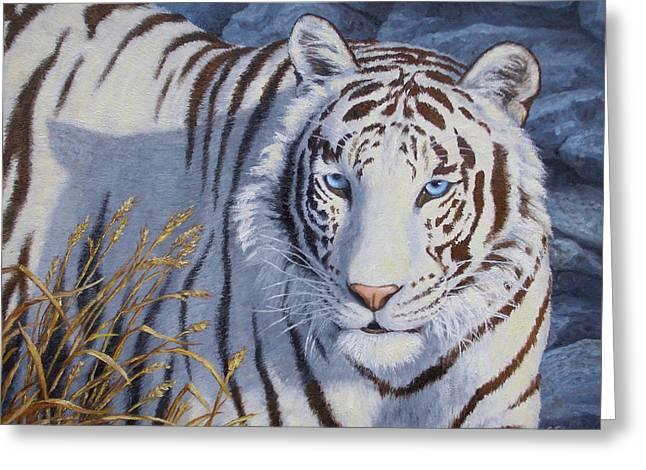 White Tiger - Crystal Eyes Greeting Card