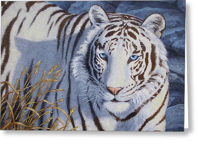 White Tiger - Crystal Eyes Greeting Card