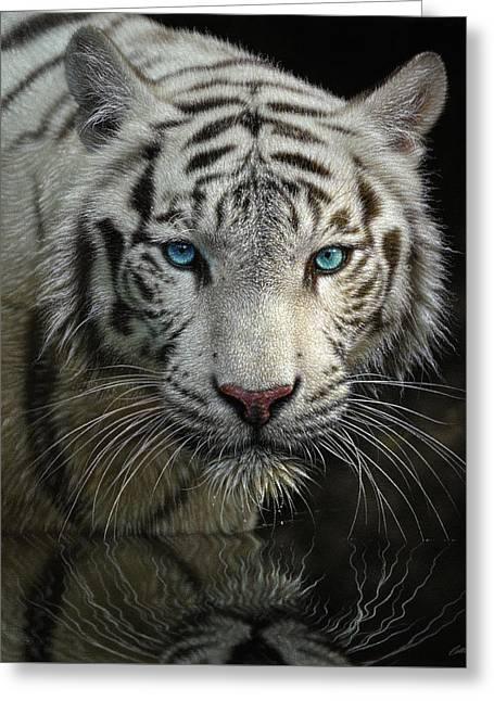 White Tiger - Into The Light Greeting Card