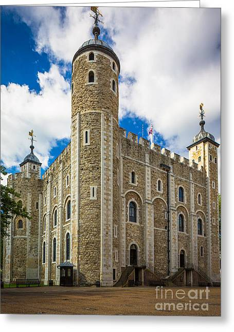 White Tower Greeting Card by Inge Johnsson
