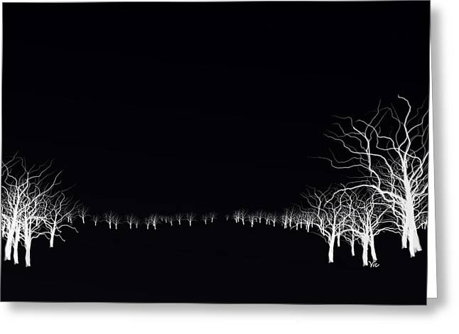 White Tree Greeting Card