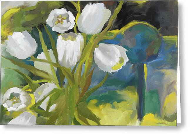 White Tulips 395 I Greeting Card