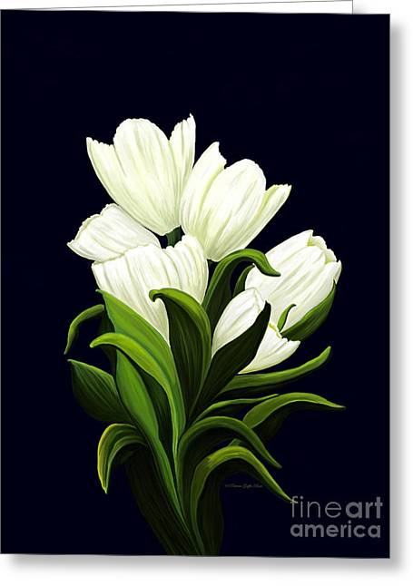 Greeting Card featuring the painting White Tulips by Patricia Griffin Brett