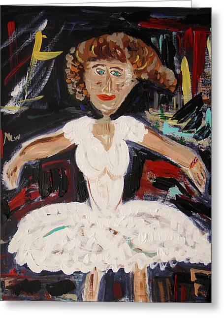 White Tutu Greeting Card by Mary Carol Williams