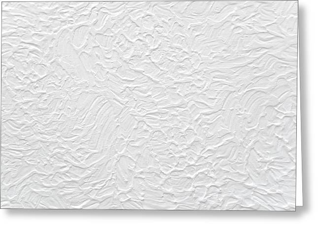 White Wall Greeting Card