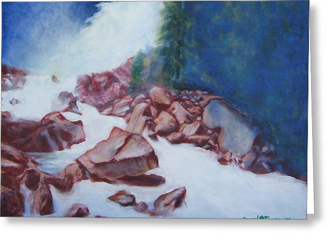 White Water And Solid Rock Greeting Card by Howard Stroman