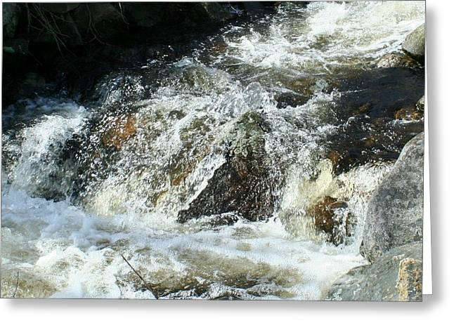 Greeting Card featuring the digital art White Water by Barbara S Nickerson