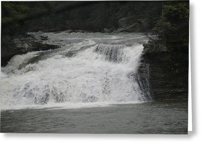 White Water Greeting Card by Heather Green