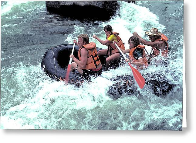 White Water Rafting Greeting Card by Carl Purcell