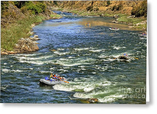 White Water Rafting Greeting Card