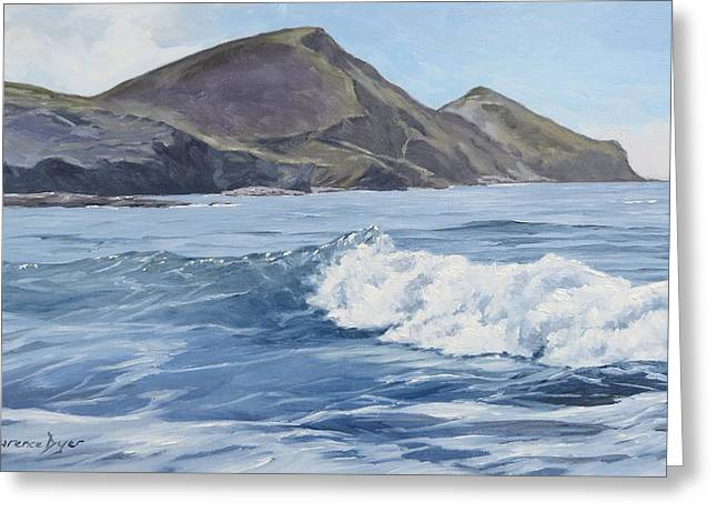 White Wave At Crackington  Greeting Card
