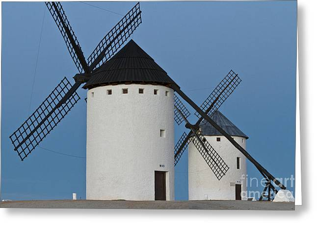 Greeting Card featuring the photograph White Windmills by Heiko Koehrer-Wagner