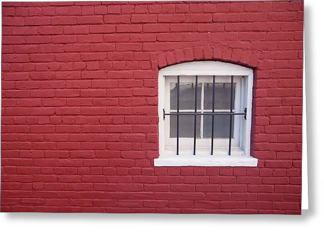 Greeting Card featuring the photograph White Window by Monte Stevens