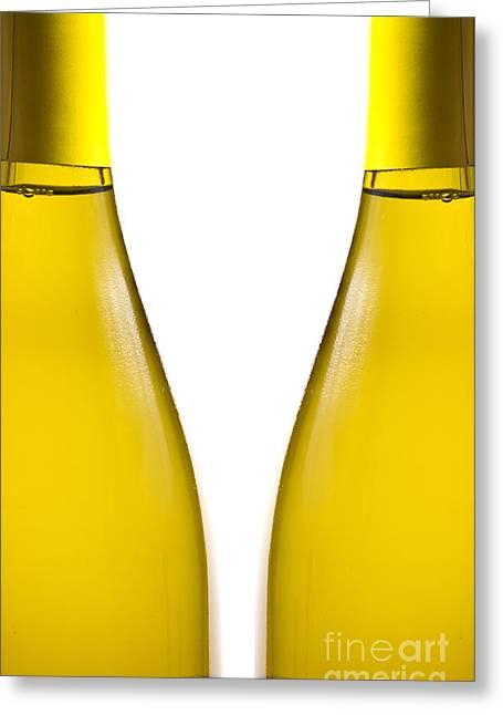 White Wine Greeting Card by Edward Fielding