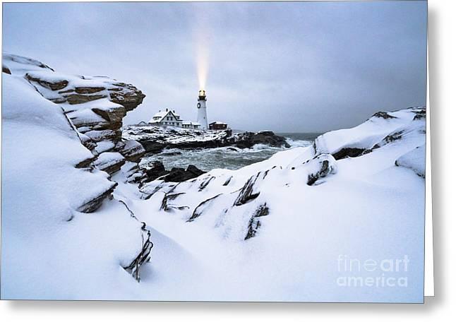 White Winter Greeting Card by Benjamin Williamson