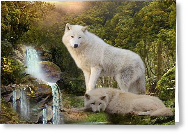 White Wolf Falls2 Greeting Card