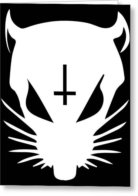 White Zef Rat Greeting Card