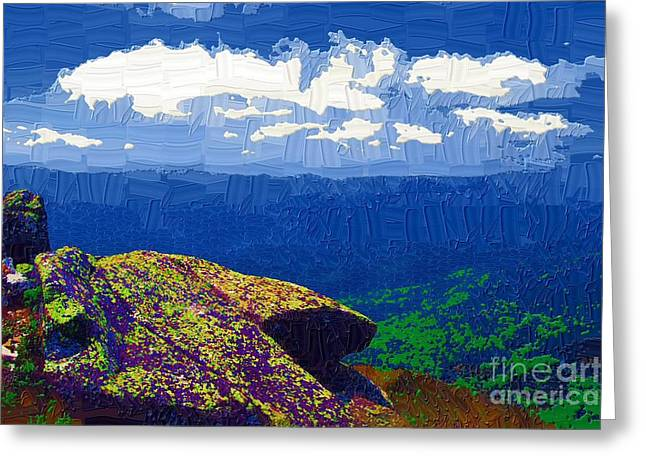Whiteface Mountain View Greeting Card by Diane E Berry