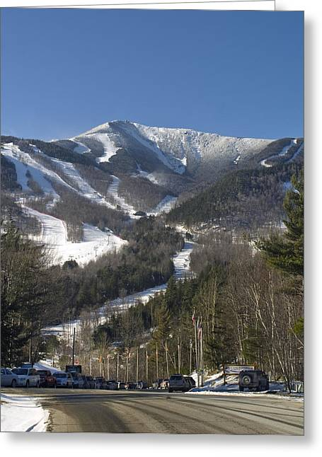 Whiteface Ski Mountain From The Road In Upstate New York Near Lake Placid Greeting Card by Brendan Reals