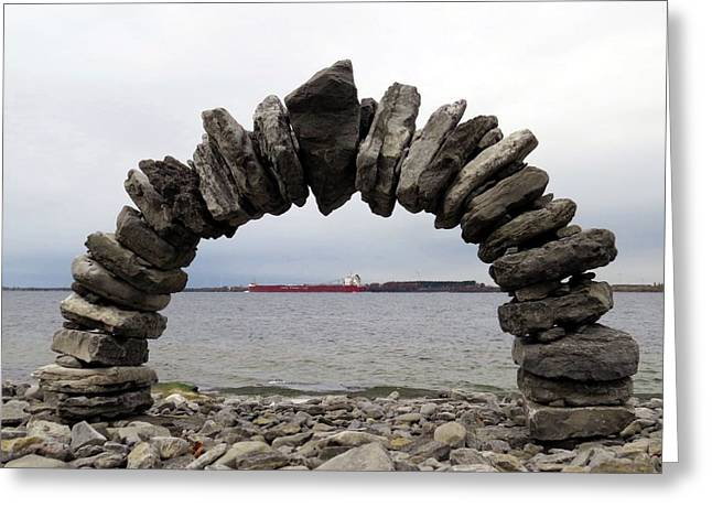 Whitefish Bay Under The Arch Greeting Card