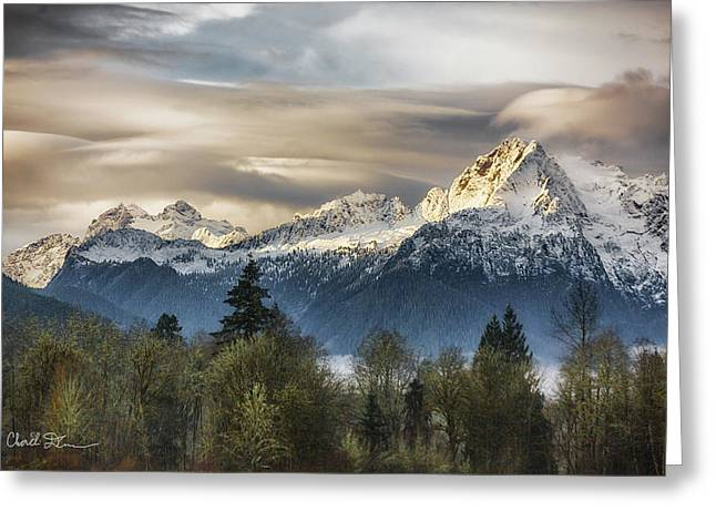 Whitehorse Sunrise, Flowing Clouds Greeting Card