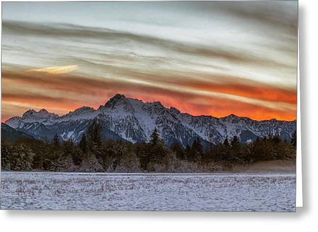 Whitehorse Sunset Panorama Greeting Card