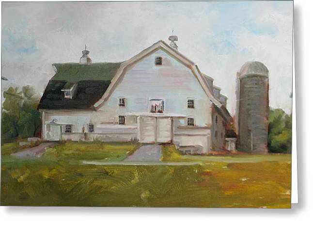 Whitehouse Dairy Barn Greeting Card by Nora Sallows