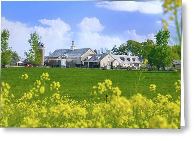 Whitemarsh Pa - Erdenheim Farms In The Spring Greeting Card by Bill Cannon