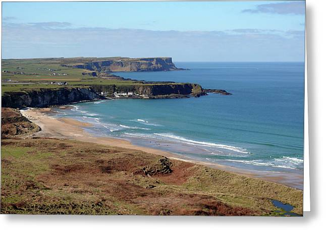 Greeting Card featuring the photograph Whitepark Bay And Portbraddon by Colin Clarke