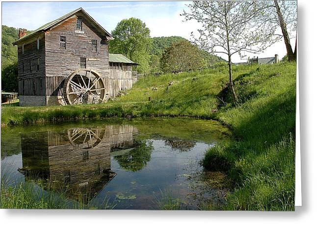 White's Mill Greeting Card by Alan Lenk