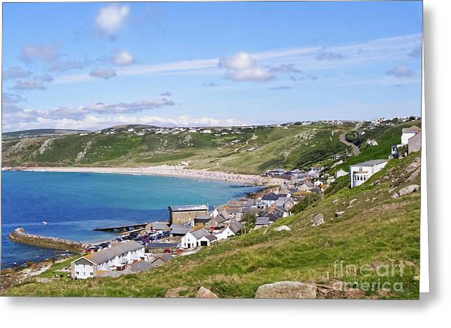 Whitesand Bay Cornwall Greeting Card by Terri Waters