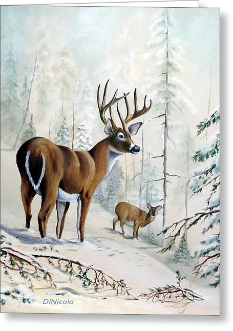 Winter Serenity Greeting Card by Anthony DiNicola