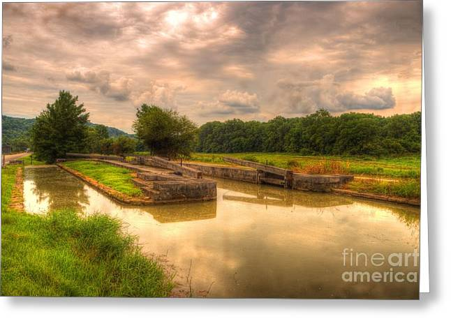 Whitewater Canal Lock 24 Greeting Card by Paul Lindner