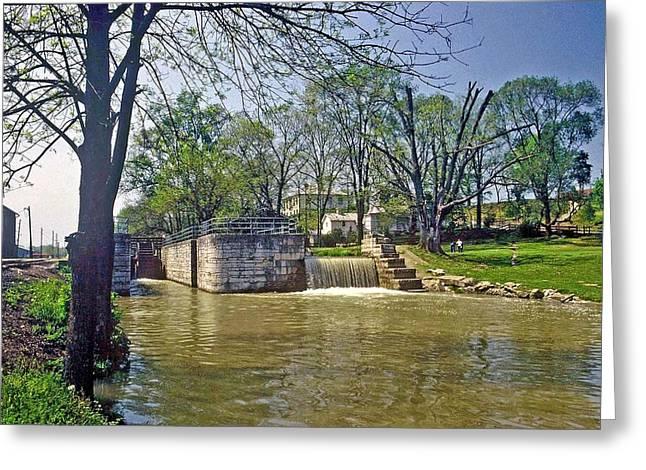 Whitewater Canal Metamora Indiana Greeting Card by Gary Wonning