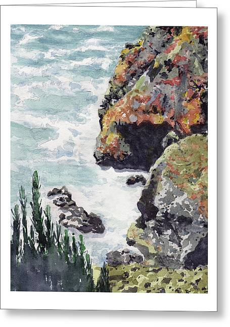 Whitewater Coast Greeting Card