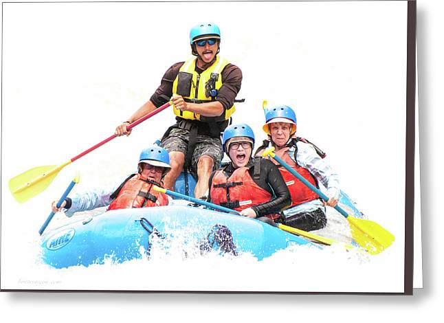 Greeting Card featuring the photograph Whitewater Faces by Britt Runyon