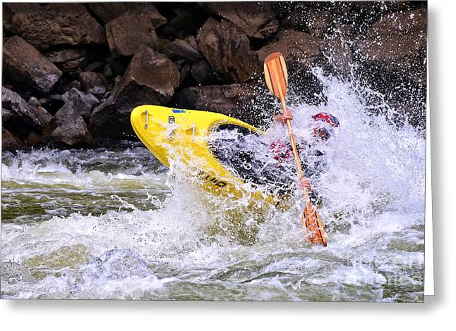 Whitewater On The New River Greeting Card
