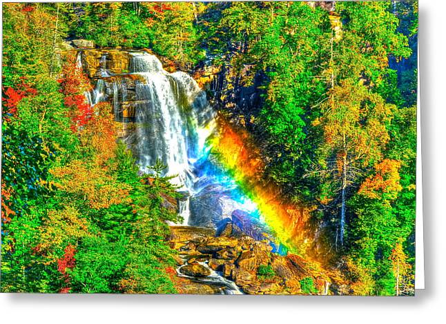 Whitewater Rainbow Greeting Card