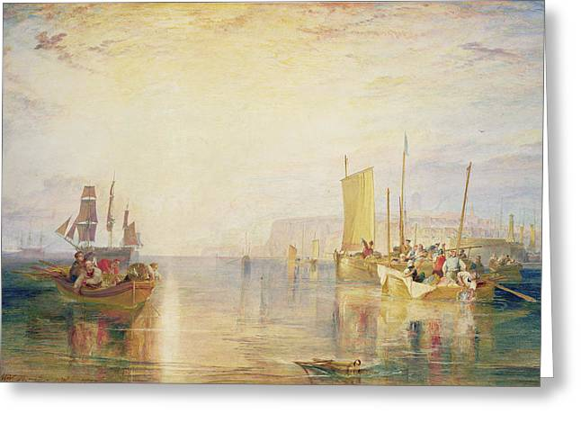Whiting Fishing Off Margate Greeting Card by Joseph Mallord William Turner