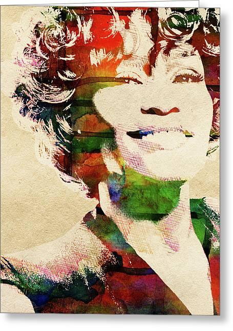 Whitney Houston Greeting Card