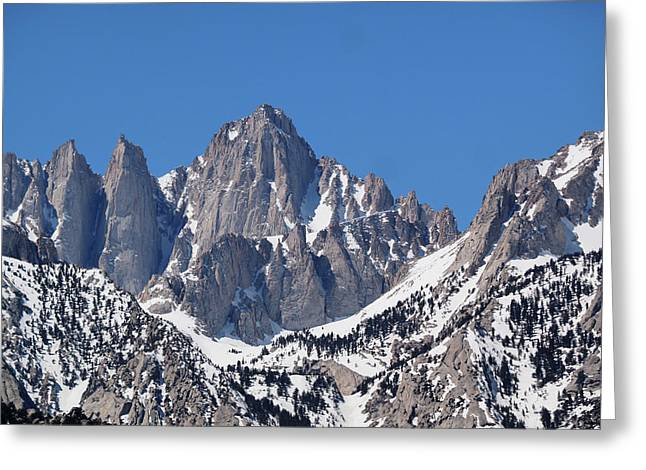 Mt. Whitney From Lone Pine Campground Greeting Card
